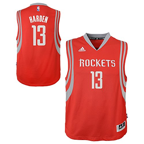 11 Houston Rockets Jersey (NBA Houston Rockets James Harden Boys Player Swingman Road Jersey, Medium (10-12), Red)