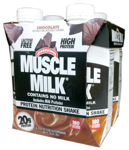 Cytosport Ready-to-Drink MUSCLE MILK Chocolate Protein Shake - 4x11 fl oz Containers (2 Pack)