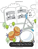 Music Staff Paper For Kids: Timbrel Large, Empty Staff, Manuscript Sheets Notation Paper For Composing For Musicians, Students, Songwriting. Book Notebook Journal 100 Pages  8.5x11
