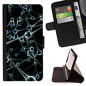 Momo Phone Case / Flip Funda de Cuero Case Cover - Body Art Moléculas Anatomía Humana Moderna - HTC One M9