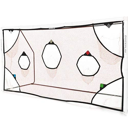 QuickPlay PRO Soccer Goal Target Nets with 7 Scoring Zones – Practice Shooting & Goal Shots (12 x 6')