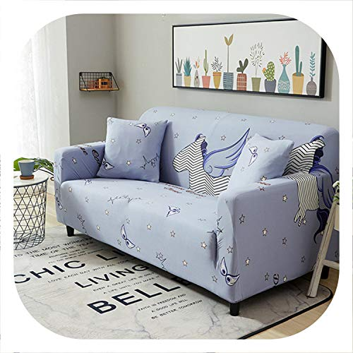 1/2/3/4 Seater Sofa Covers Chair Couch Protect Stretch Elastic Loveseat Slipcover for Living Room Sofa Cover,Color 13,1-Seat 75-140cm