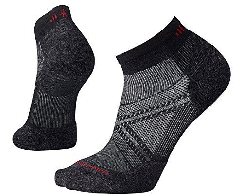 SmartWool Men's PhD Run Light Elite Low Cut Socks (Black) Large