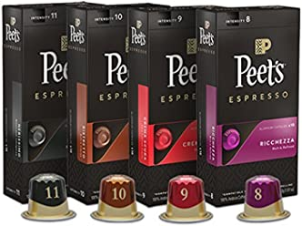 Peet's Coffee Espresso Capsules Variety Pack, 10 Each (40 Count) Compatible with Nespresso OriginalLine Brewers, Single Cup Coffee Pods