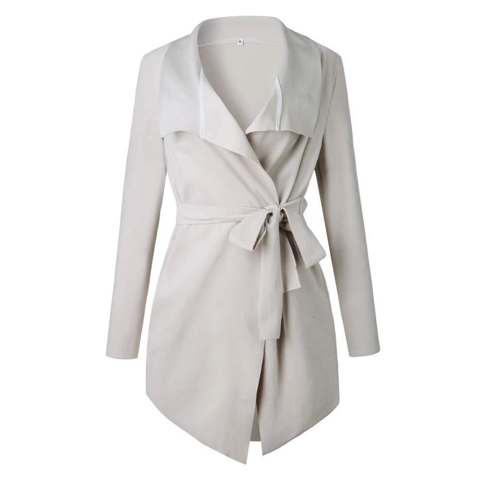 Moserian Women Ladies Long Sleeve Cardigan Coat Suit Top Open Front Jacket Outwear