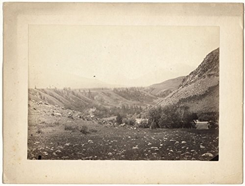 1885 Photo Valley of the Bukhtarma near rapids Bukhtarma valley, located in the southern part of Russian Altai Mountains, with the Bukhtarma River in the foreground. Location: Altai Mountains, Federat