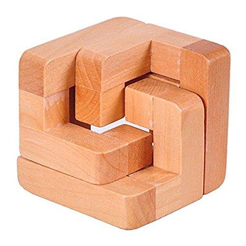 SODIAL 3D Wooden Interlocked Surround Lock Logic Puzzle Burr Puzzles Brain Teaser Intellectual Toy Magic Cube