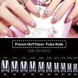 500PCS False Nails, Clear Acrylic Nail Tips, French Nail Tips,Clear Lady French Acrylic Style, 10 Multi-Sizes Fit for Nail Salons and DIY Nail Art