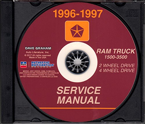 1996-1997 Dodge Ram Truck Factory Shop & Service Manual CD 1500 2500 3500 Repair For Diesel and Gas