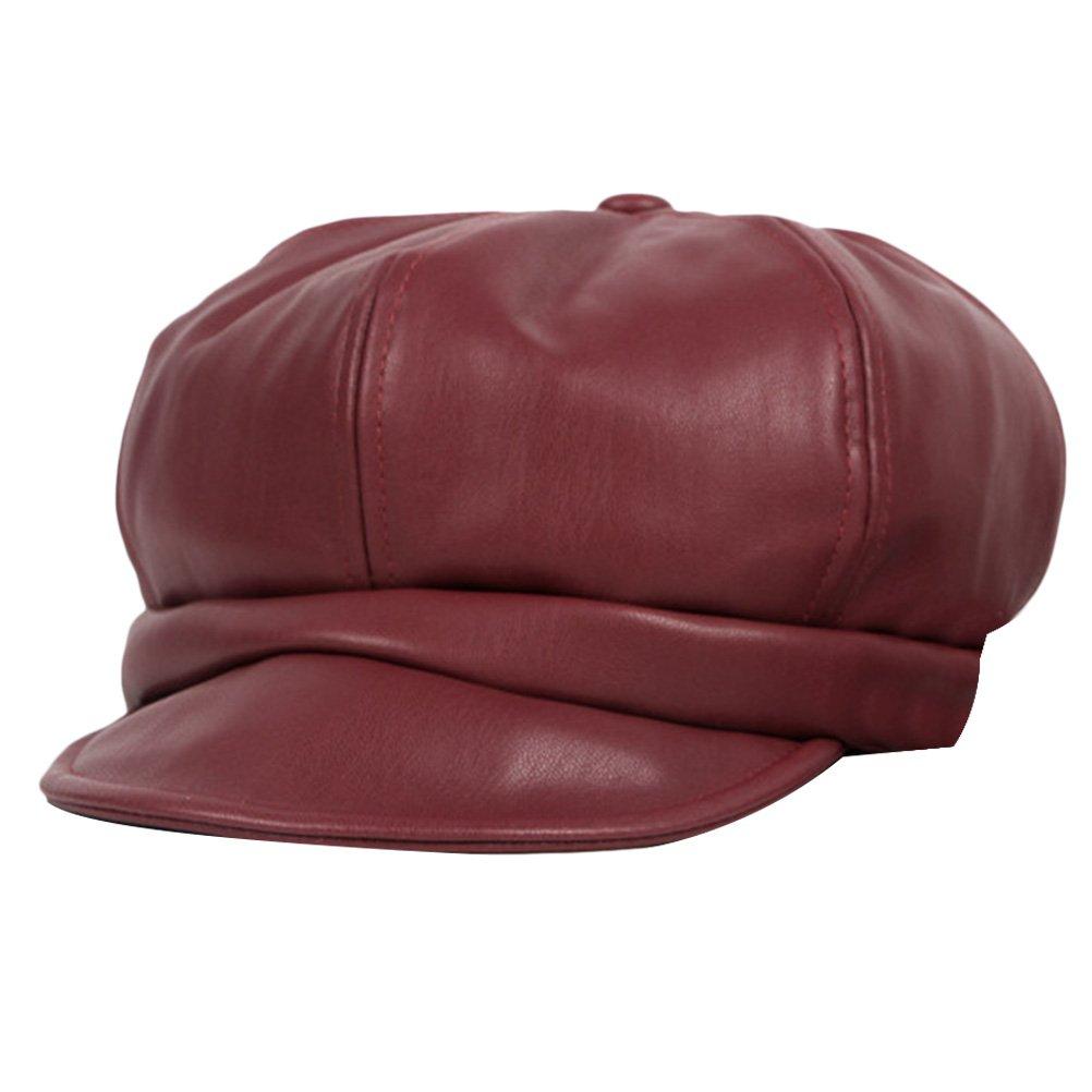 Zhhlinyuan Sports Cycling Hiking Cap Women PU Leather Baseball Hats CQ0516