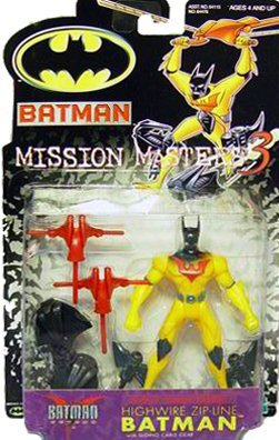 Batman Mission Masters 3 Highwire Zipline Batman Figure