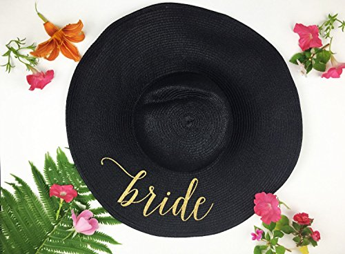 Bride Hat, Just Married Honeymoon Beach Floppy Hat, Bride Beach hat, Beach Hat, Honeymoon Hat, Floppy Bride Hat, Just Married Hat