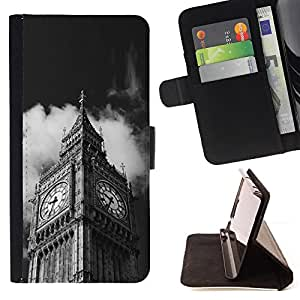 Jordan Colourful Shop - Architecture Big Ben Close Up London For Apple Iphone 5C - Leather Case Absorci???¡¯???€????€????????&c