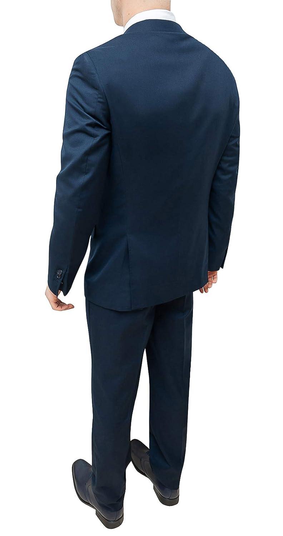 FB CLASS Abito Completo Uomo Sartoriale Blu Scuro Slim Fit Elegante Blazer Giacca con Pantaloni
