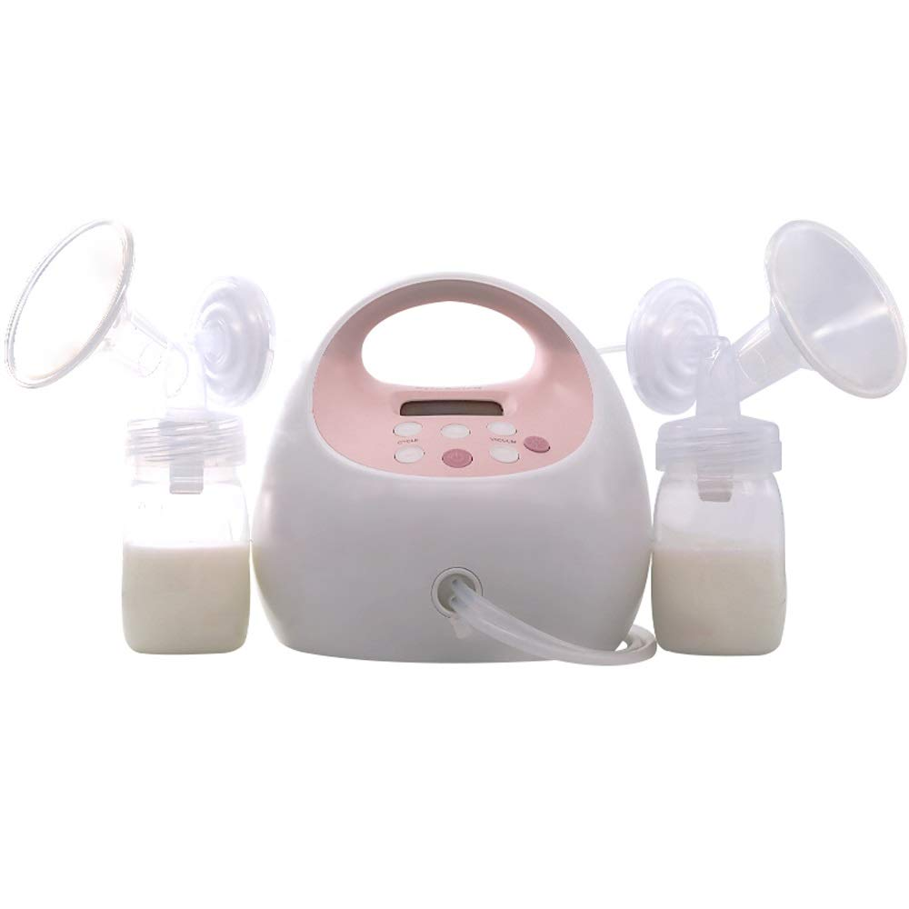 Jian E Double Electric Breast Pump - Electric Breast Pump - Can Be Equipped with Battery, Rechargeable - Silent Night Light - Adjustable 12 Gear