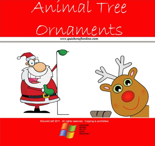 Christmas Craft Kids Cute Animal Tree Ornaments (QuickCraft)