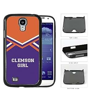 Clemson City Girl School Spirit Cheerleading Uniform Samsung Galaxy S4 I9500 Hard Snap on Plastic Cell Phone Cover by icecream design