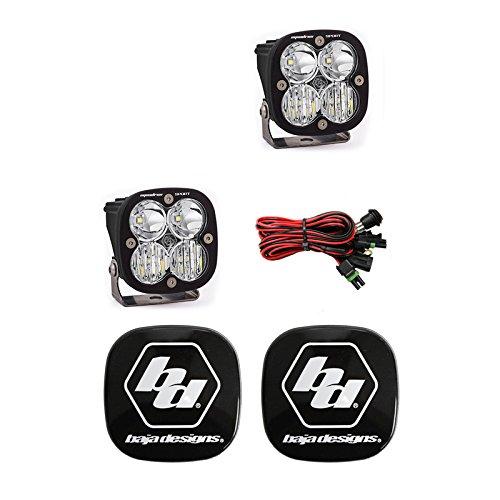 Baja Designs Squadron Sport LED Pair Driving//Combo Light Kit /& Rock Guards