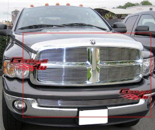 APS Fits 2002-2005 Dodge Ram Regular Model Billet Grille Combo #D67998A