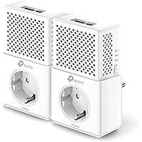 TP-Link TL-PA7020P Kit V2.0 AV1000 Gigabit Powerline Netzwerkadapter (1000Mbit/s, 2 Gigabit Ports, Steckdose, Ideal für HDTV, energiesparend, Plug & Play, 2er Set) Weiß