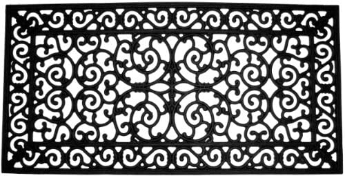 Imports Decor Rubber Doormat, Brooklyn, 24-Inch by 48-Inch