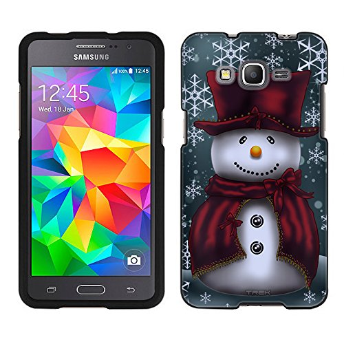 Samsung Galaxy Grand Prime Case, Snap On Cover by Trek Snowman in Red Case - Grand Snowman