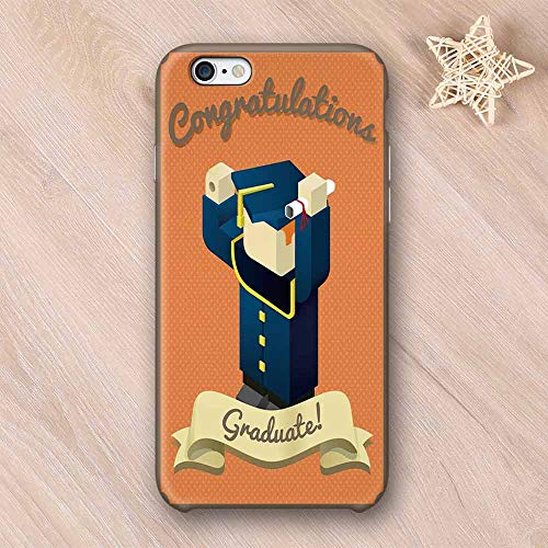 - Graduation Decor No Odor Compatible with iPhone Case,Student Toy Avatar Design Mortarboard Certificate Congratulatory Ribbon Compatible with iPhone 7/8 Plus,iPhone 6/6s