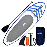 Newport Vessels Women's Umami Stand Up Paddleboard Set, 9-Feet x 2-Inch, White/Blue