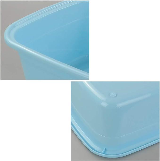 Ordate Color Azul Claro Bandejas Cubeta Cubetas Barre/ño Barre/ños de Plastico Grande Rectangular 1 Paquete