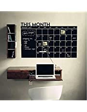 Black Removable Chalkboard Paper Monthly Calendar Wall Stickers Office Home Study Room Message Board Decals Art Mural , 2724338732713