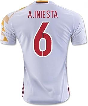 2016-2017 Spain Adidas Away Shirt (A.Iniesta 6): Amazon.es: Deportes y aire libre
