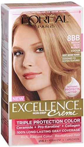 L'Oreal Excellence Creme - 8BB Medium Beige Blonde (Cooler) 1 Each (Pack of 2)