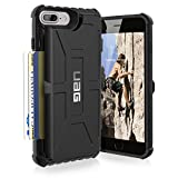 urban armor gear iphone 4 - UAG iPhone 8 Plus / iPhone 7 Plus / iPhone 6s Plus  [5.5-inch screen] Trooper Feather-Light Card Case [BLACK] Military Drop Tested iPhone Case