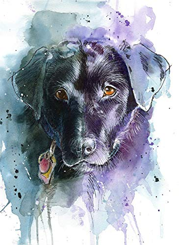 Labrador Retriever Art Print of Original Watercolor Painting, Pet Themed Party Home Wall Decor, Gift for Dog Mom, Dad, Parent; Rainbow Bridge Pet Loss Sympathy Bereavement Housewarming Animal Picture