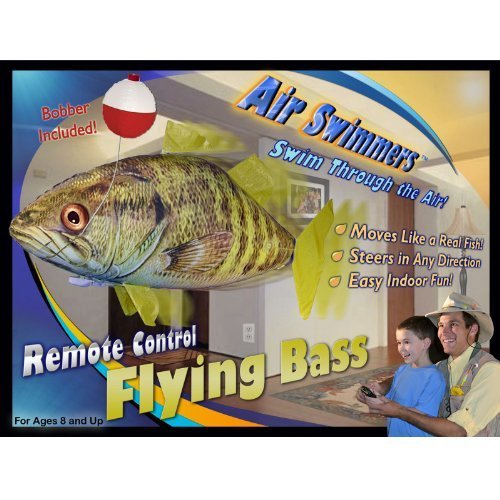 Air Swimmers Remote Control Flying Bass Fish (Air Swimmers Clown Fish compare prices)