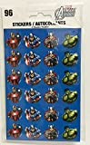 Avengers Assemble 96 CT Sticker Set : IRON-MAN, CAPT. AMERICA, THOR, & HULK