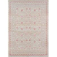 Momeni Rugs ISABEISA-3PNK2030 Isabella Traditional Oriental Flat Weave Area Rug, 20 x 30, Pink