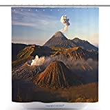 Unique Shower Curtains Volcanoes Of Bromo National Park Java Indonesia 54034666 Polyester Bathroom Shower Curtain Set With Hooks