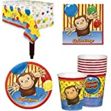 Curious George Birthday Party Supplies for 16 Guests