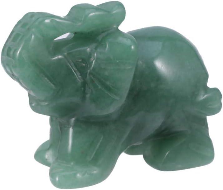Vosarea nat/ürliche Jade Tier Elefanten Statue Figur feng Shui Dekoration Ornamente Figuren Handwerk Geschenk Home Office liefert Erwachsene