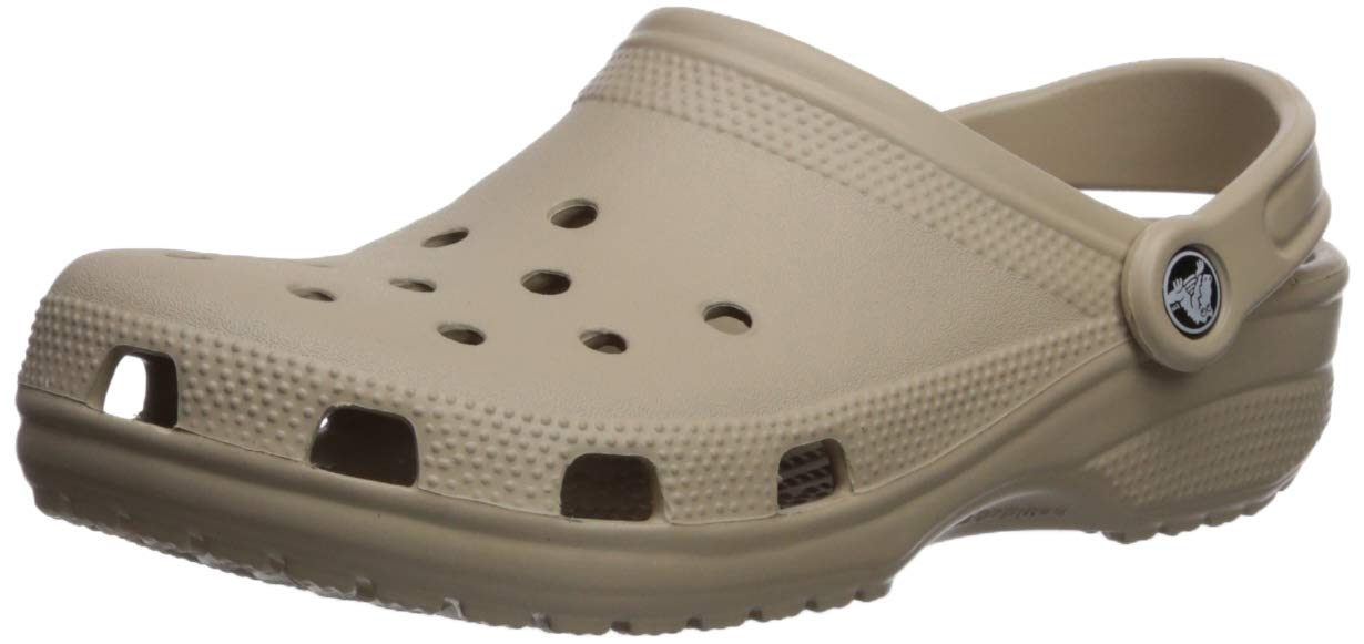d265e926e6554 Crocs Men's and Women's Classic Clog, Comfort Slip On Casual Water Shoe,  Lightweight, Cobblestone, 19 US Women / 17 US Men