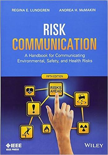 risk communication a handbook for communicating environmental
