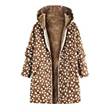Womens Oversize Vintage Floral Print Fleece Coats
