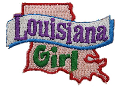 (Louisiana Girl 2.5 inch small Iron on Patch)