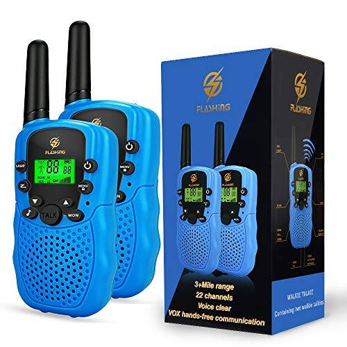 Dreamingbox Boy Toys Age 3-9, Long Range Walkie Talkies for Kids 2019 Birthday Gifts for 3-12 Year Old Girls Outdoor Toys for 3-12 Year Old Boys Girls Kids Toys Age 3-12 Blue TGUSSDDJ02 (Best Girls Toys 2019)