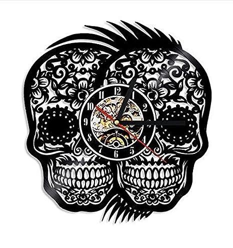 Los Muertos - Reloj de pared con diseño de calaveras mexicanas ...
