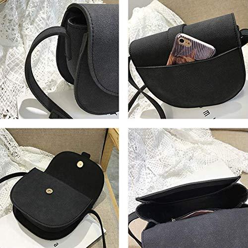 Rétro Une Mzdpp Gommage Bandoulière Épaule Couleurs 3 De Sacoche Femme Petite Simple Black Sac En Selle YqAwqrtg