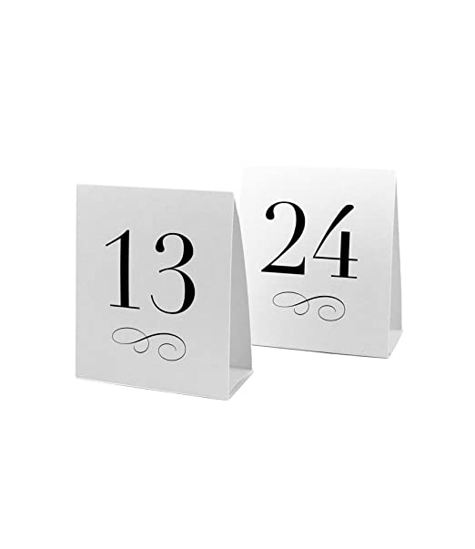 Amazon.com Weddingstar Table Number Tent Style Card Numbers 13 to 24 Kitchen u0026 Dining  sc 1 st  Amazon.com & Amazon.com: Weddingstar Table Number Tent Style Card Numbers 13 ...