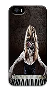 IMARTCASE iPhone 5S Case, Day Of The Dead Face Piano PC Hard Plastic Case for Apple iPhone 5S and iPhone 5