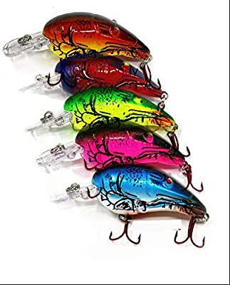 Crawfish Crankbait for Bass Fishing - Life-Like Fishing Lures - Predatory Swimbait Fishing Lures - Catches Bass, Walleye, Pike - Fish Catching Crank Bait (Crawfish101): Amazon.sg: Sports, Fitness & Outdoors